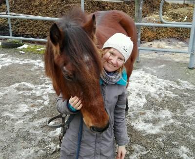 Ulrike mit Pferd